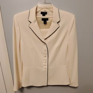 Ann Taylor Matching Cream Suit Jacket & Top - New!